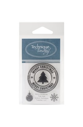 Clear Stamp - Merry Christmas Tree Seal