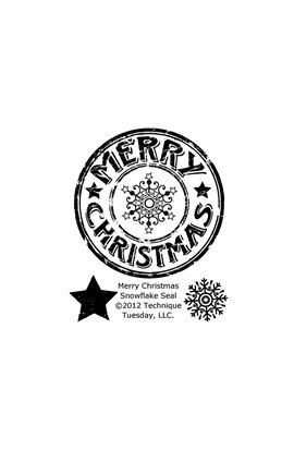 Clear Stamp - Merry Christmas Snowflake Seal