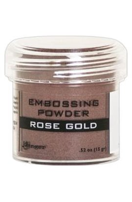Embossing powder -  rose gold metallic