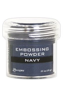 Embossing powder -  Navy Metallic