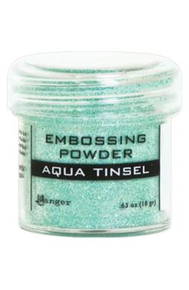 Embossing powder - acqua tinsel
