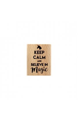 Timbro in legno -  BELIEVE IN MAGIC