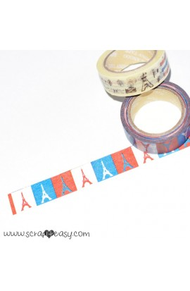 Washi Tape multicolore tema torre Eiffel