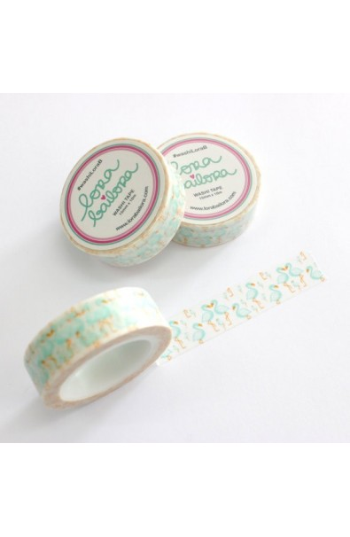 LORA BAILORA | Washi Tape Flamingo Mint