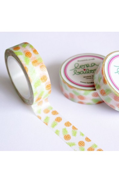 LORA BAILORA | Washi Tape Pineapple