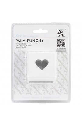 Large Palm Punch - Traditional Heart, 1""