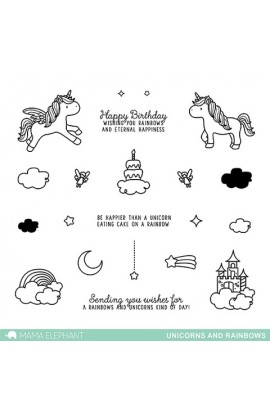 UNICORN AND RAINBOWS - Stamps