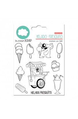 COOL ICE CREAM Stamp set