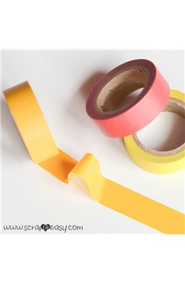 Washi Tape monocromatico giallo scuro