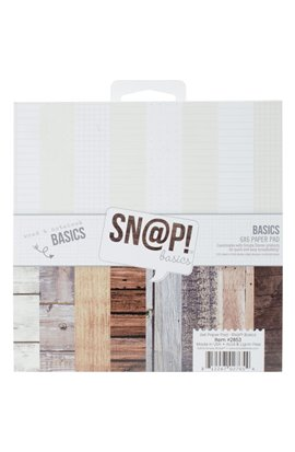 "Sn@p! Color Vibe Basics Wood & Notebook Paper Pad 6""X6"""