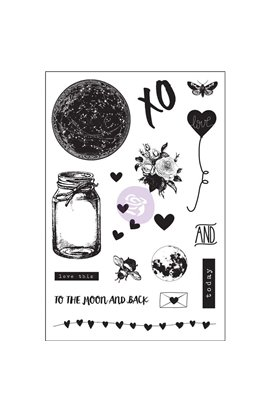 "Clear Stamp - Love Clipping - Cling Rubber Stamps 4""X6"""