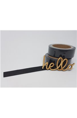 Washi Tape glitterato nero