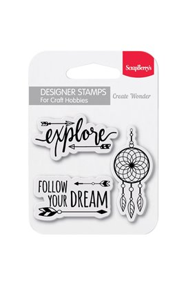 "Follow Your Dreams - Clear Stamps 2.7""x2.7"""