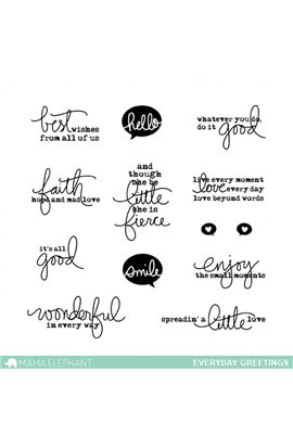 EVERYDAY GREETINGS  - Stamps