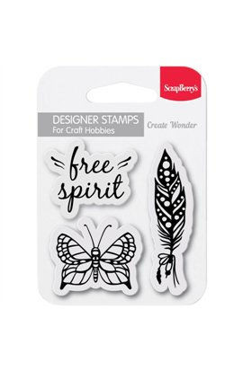 "Free Spirit - Clear Stamps 2,7""x2,7"""