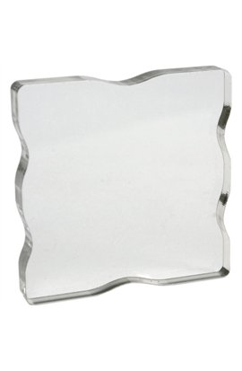 "Acrylic Stamp Block 3""x3"".5  con finger grips"