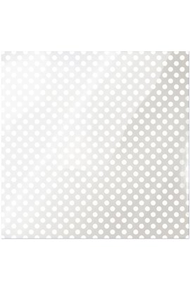 "Acetate White Dot sheet - 12""x12"""