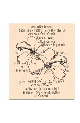 Woodblock stamp - Hibiscus story