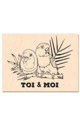 Woodblock stamp - Toi & Moi