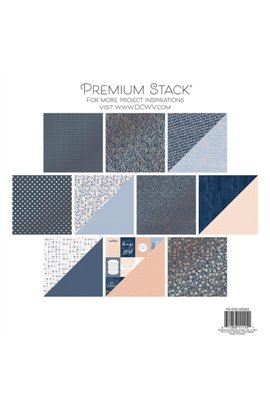 "Indigo Kraft & Rose Gold - Paper Stack 12""X12"" 20/Pkg"