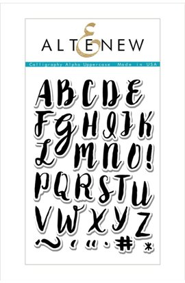 Calligraphy Alpha Uppercase - Stamp Set